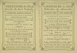 Advert For Hancock & Co's Jewellers, Goldsmiths & Silversmiths
